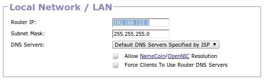 Set new LAN IP in Gargoyle